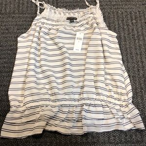 NWT adorable striped silk tank from banana republi